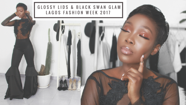 Glossy Lids & Black Swan Glam for LFDW by IamDodos