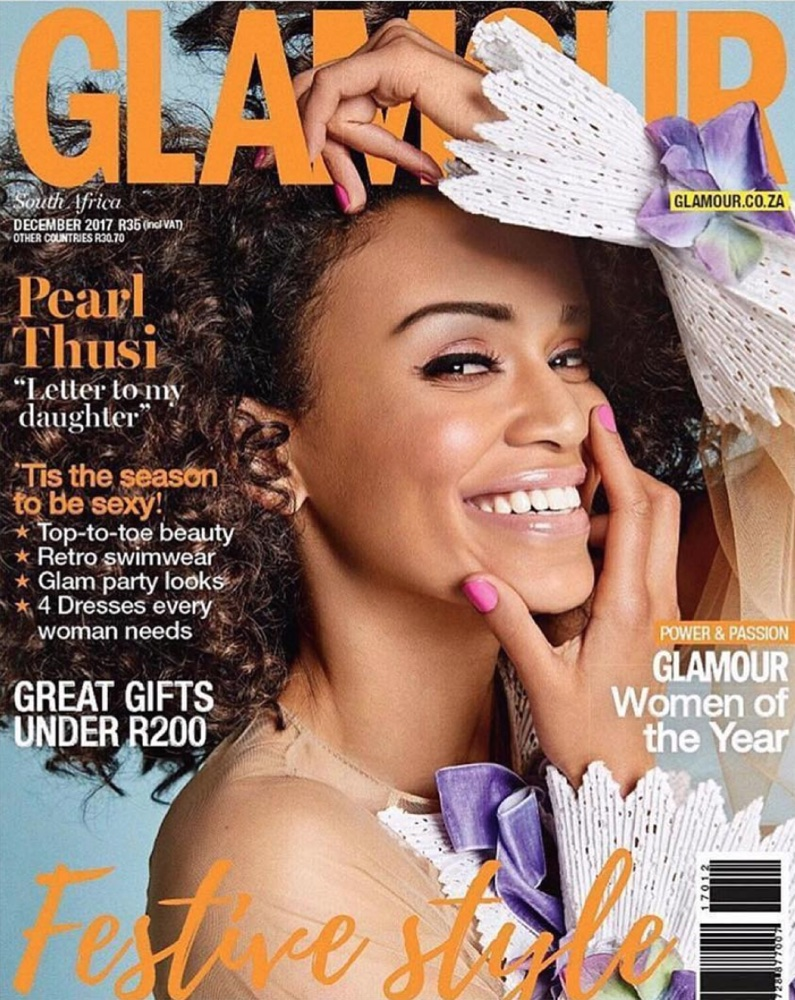 Pearl Thusi is Glamour South Africa's Cover Girl for December