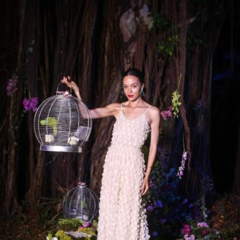 embellished white dress eku edewor lagos gucci bloom