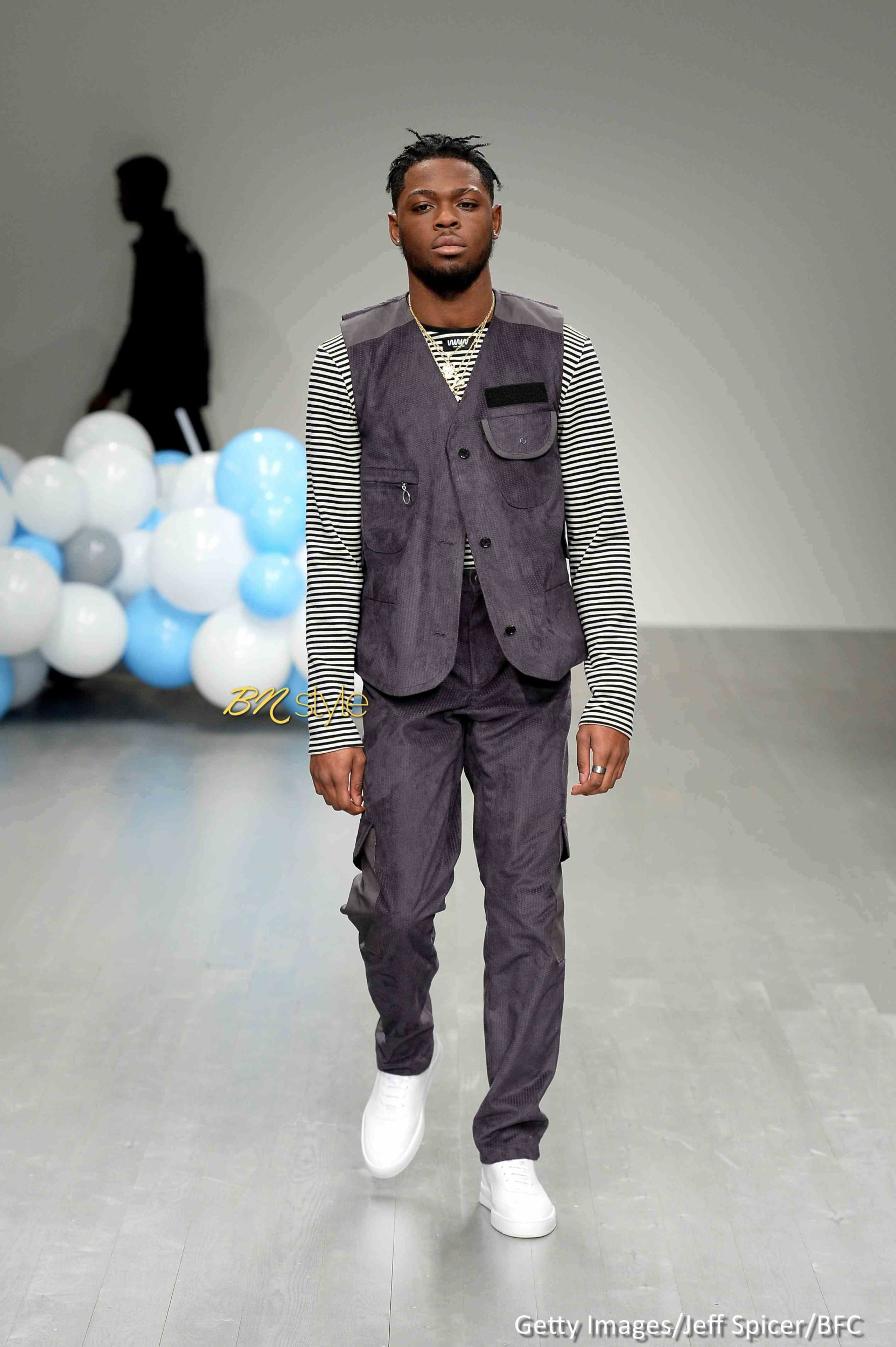 Tinie Tempah unveiled the Coolest Collection at London Fashion Week Men's
