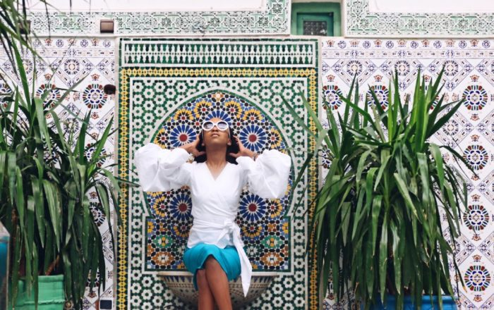 Fey Kamson takes Morocco in Style, Mixing London Vibes and Lagos Chic