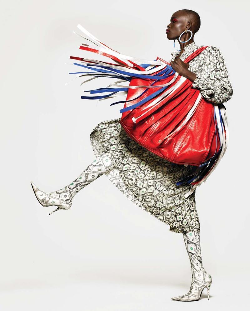 Grace Bol Is Pop Art Perfection In This Harpers Bazaar Editorial