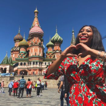 From Russia With Love! Minnie Dlamini's Moscow Travel Diary