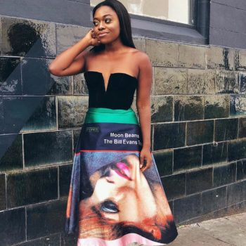 Outfit Inspiration - Fisayo Longe Shows Us The Right Way to Wear a Graphic Skirt