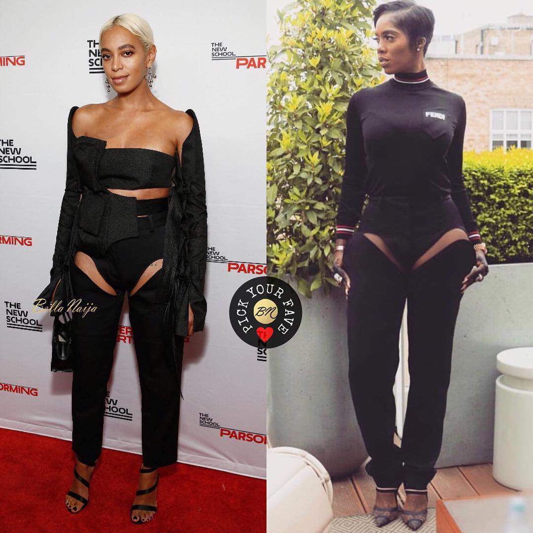 Tiwa Savage & Solange Knowles wearing Y Project
