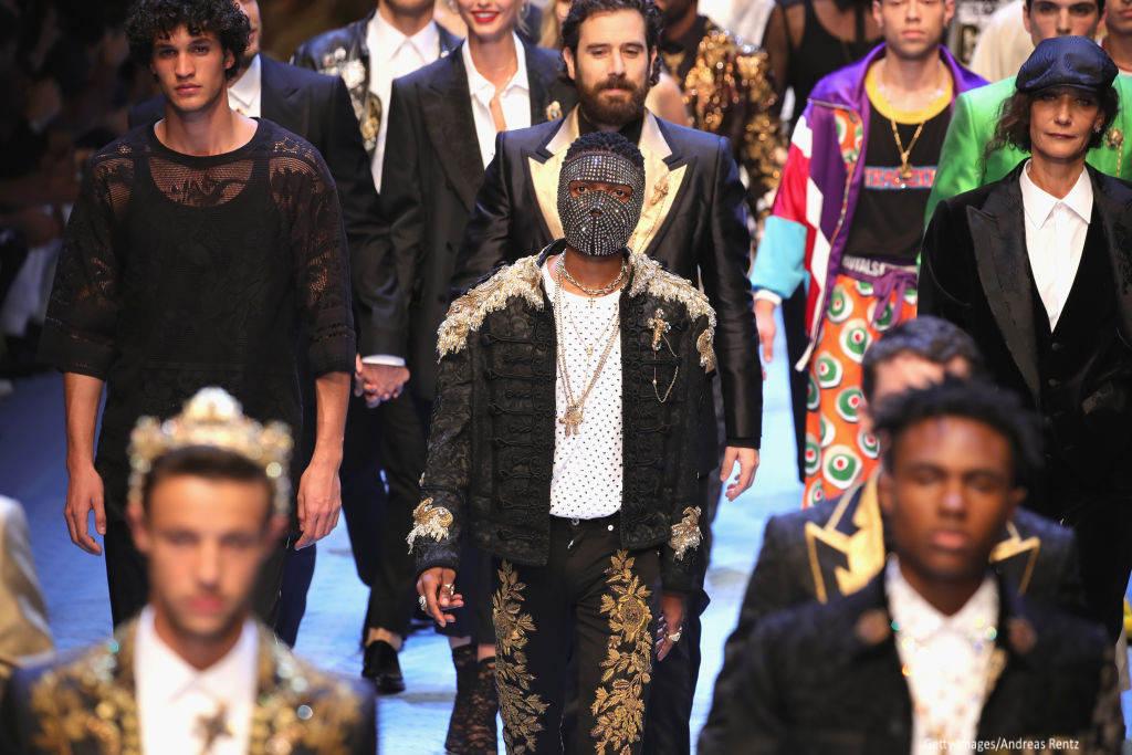 Image result for Wizkid Walks Dolce & Gabbana Men's Fashion Show Runway