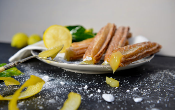 Lemon Churro Bites and Lemon Glaze - The Perfect Movie Night Snack!