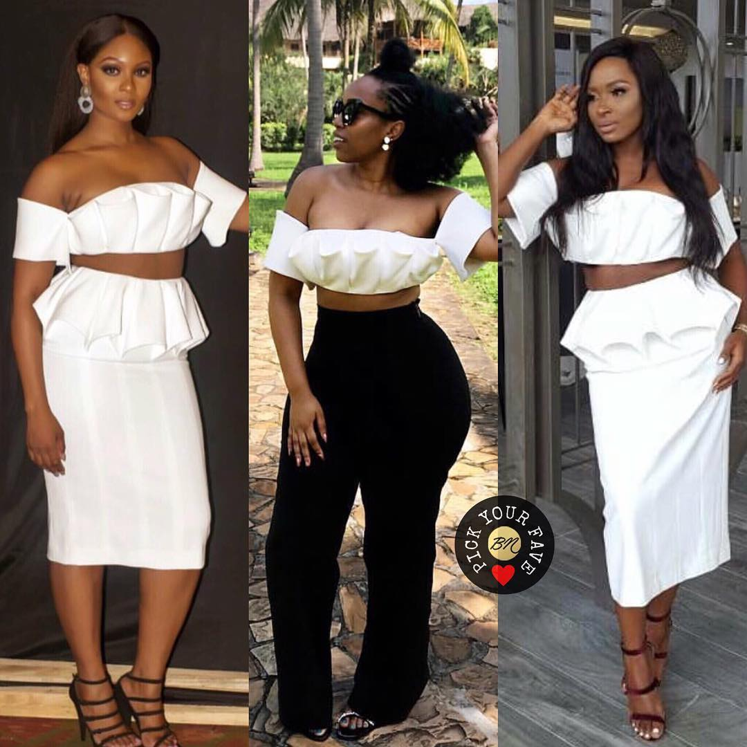 3 Ladies and 1 Top from Andrea Iyamah, Which Look is Your Fave?
