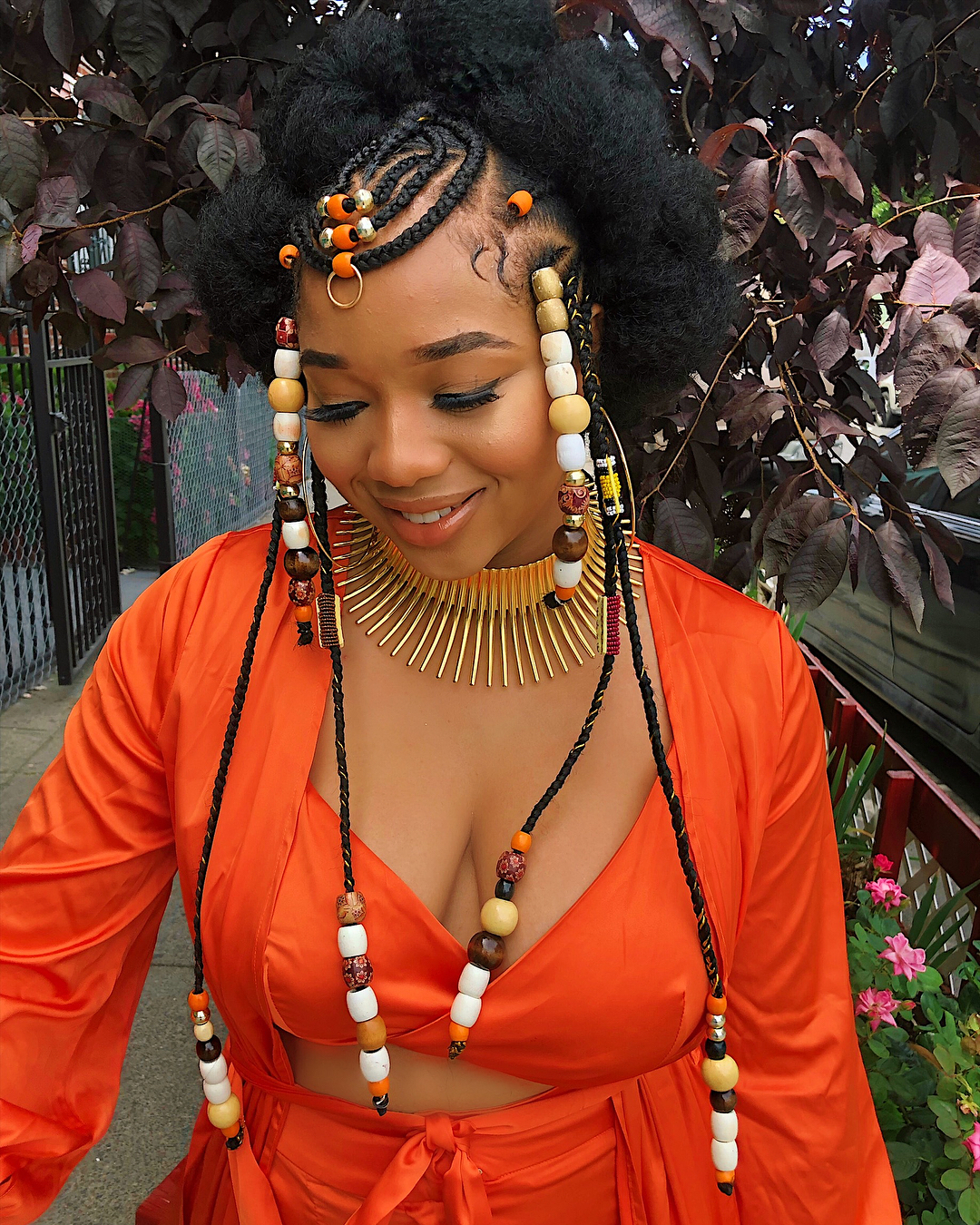 Nneoma's Tribal Hairdo would inspire your Summer beauty Moodboard