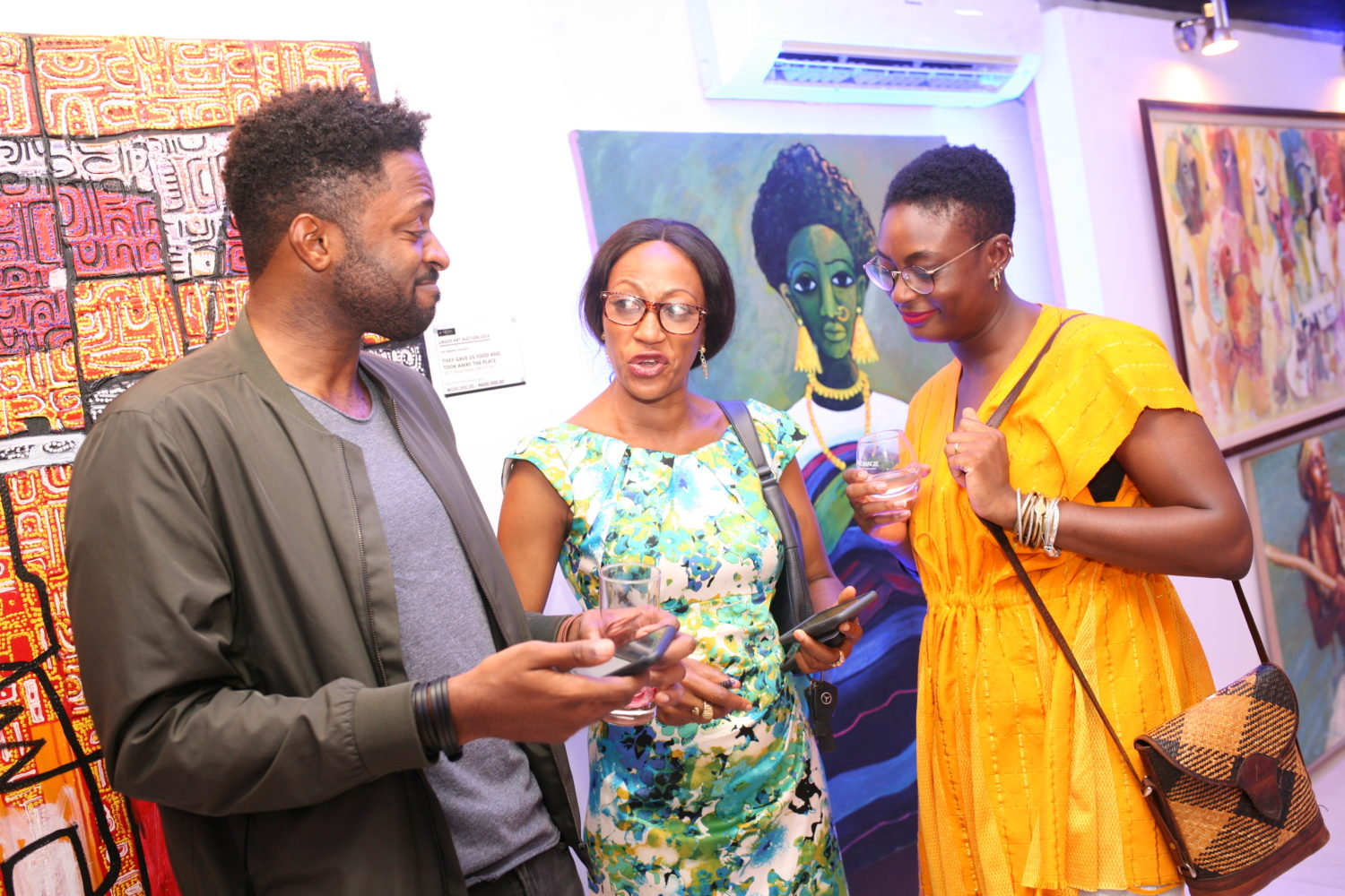 Inside the Lagos Art Auction 2018 Preview & Cocktail Night at the TKMG Auction House