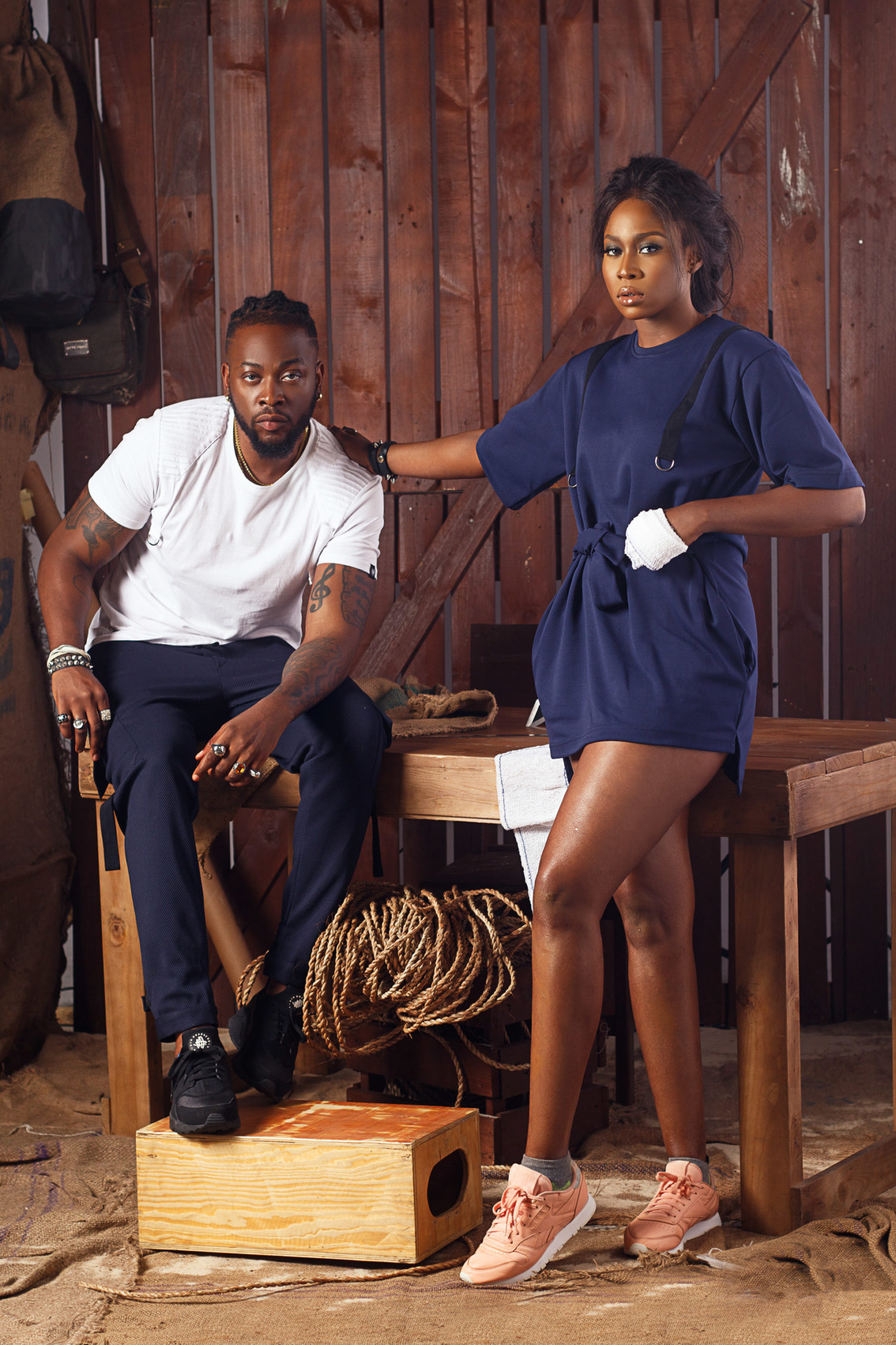 Big Brother Naija Star Teddy A and Nollywood Darling Lilian Afegbai Front NACK Apparel's New 'Interlude' Collection