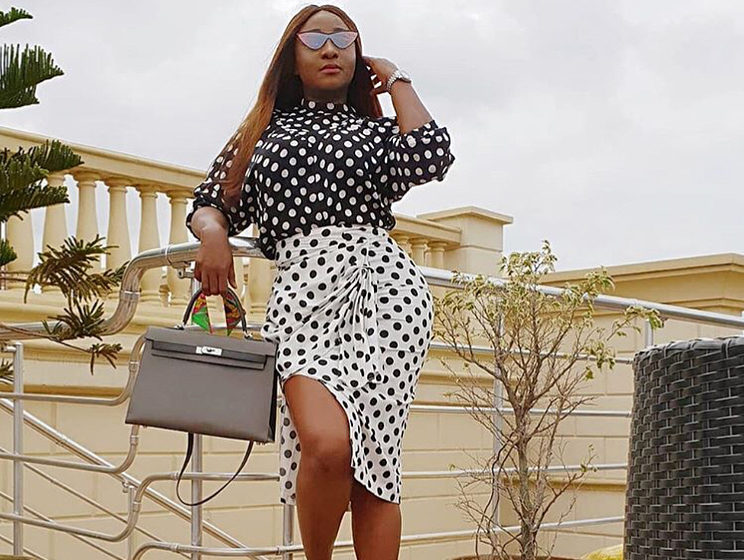 Ini Edo Approves of Polka Dot Print this season, Here's Proof!