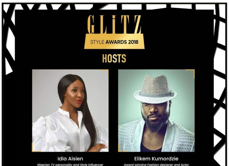 Idia Aisien and elikem kumordzie set to host Glitz award 2018