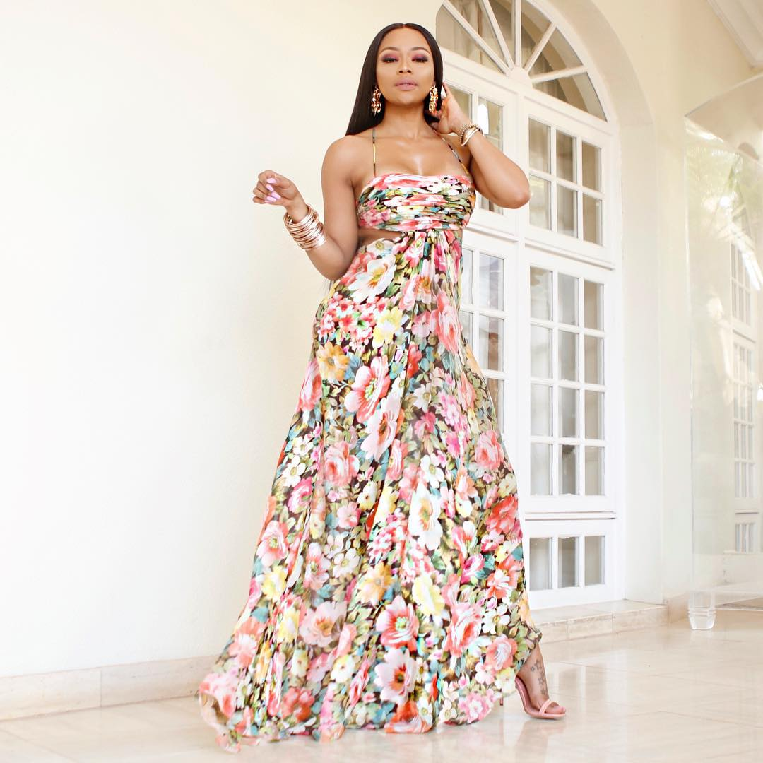 If You Thought Floral Maxis Were Only For The Beach, You're Wrong – Bonang Matheba's Latest Look Is Proof