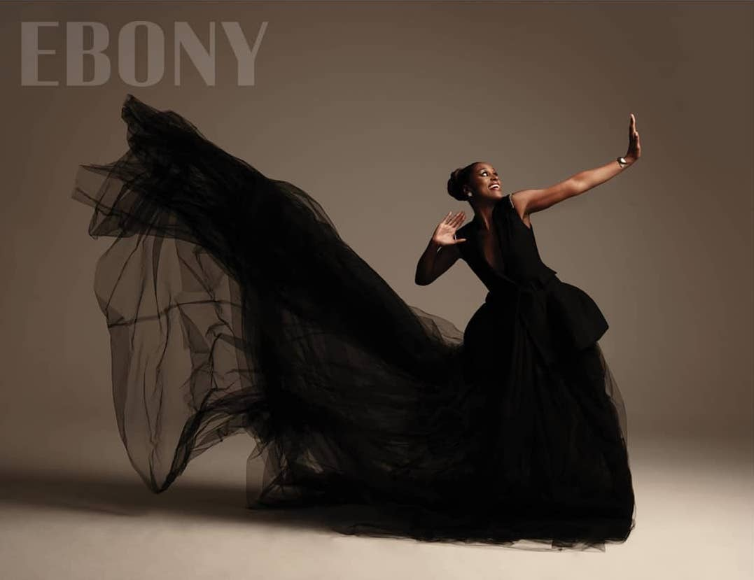 Issa Rae Dazzles in Vera Wang and Zac Posen for Ebony Magazine's September Issue