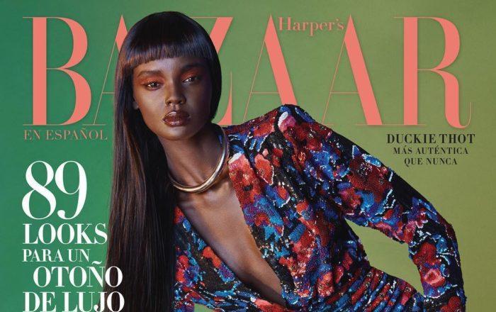 Duckie Thot is Stunning On The September Cover Of Harper's Bazaar en Español