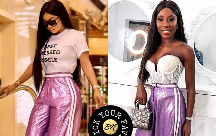 Toke Makinwa and Og Okonkwo Just Debuted The Chicest Sequin Pant of The Season!
