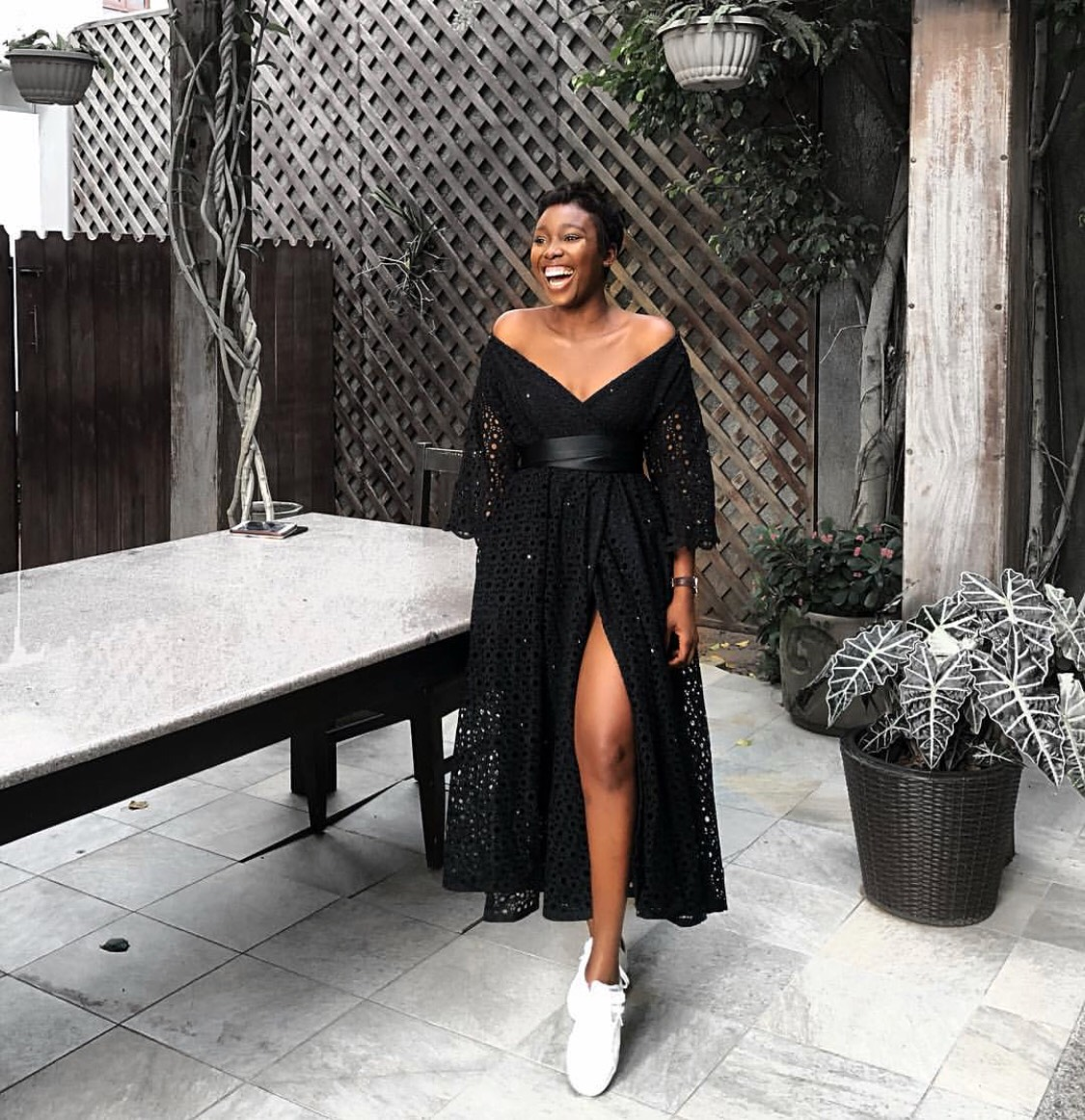 We Can't Take Our Eyes Off IamDodos In This Bello Edu Chic Wrap Dress
