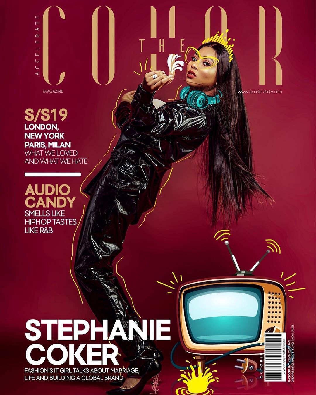 Stephanie Coker on the magazine cover of #thecover for Accelerate TV