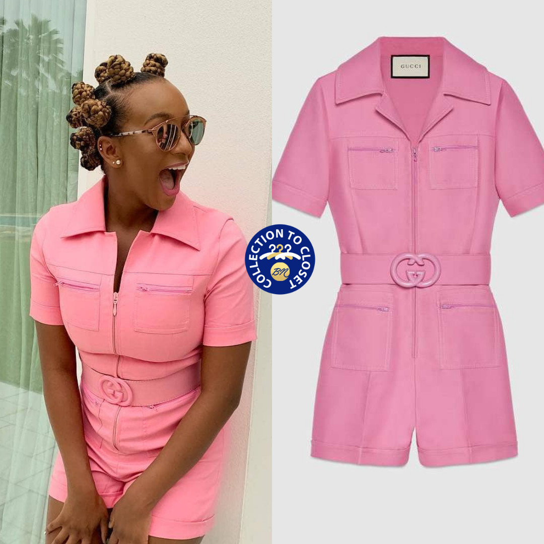 DJ cuppy In Gucci