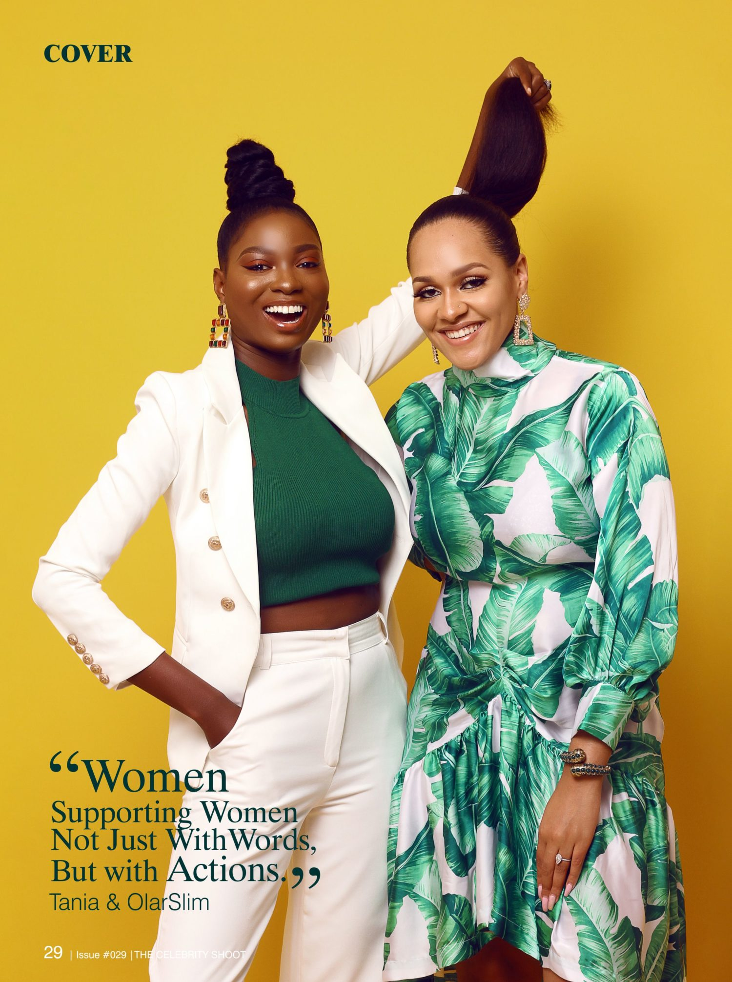 Taniah Omotayo and Olar Slim Stun on the Cover of The Celebrity Shoot Magazine