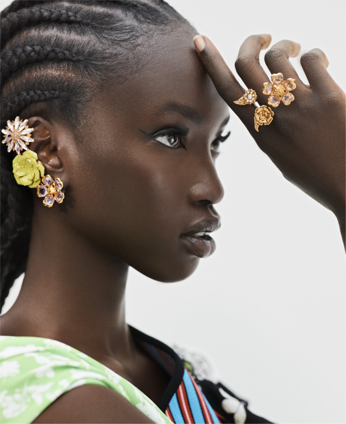 "Anok Yai Stuns In ELLE USA's ""Summer Fling"" Edit"