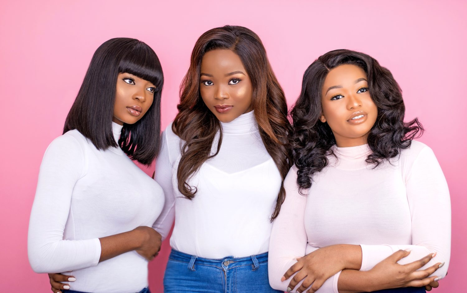 Anne Elise Real Hair's New Lookbook Is Titled 'A Pink Christmas' and the Photos Are Stunning