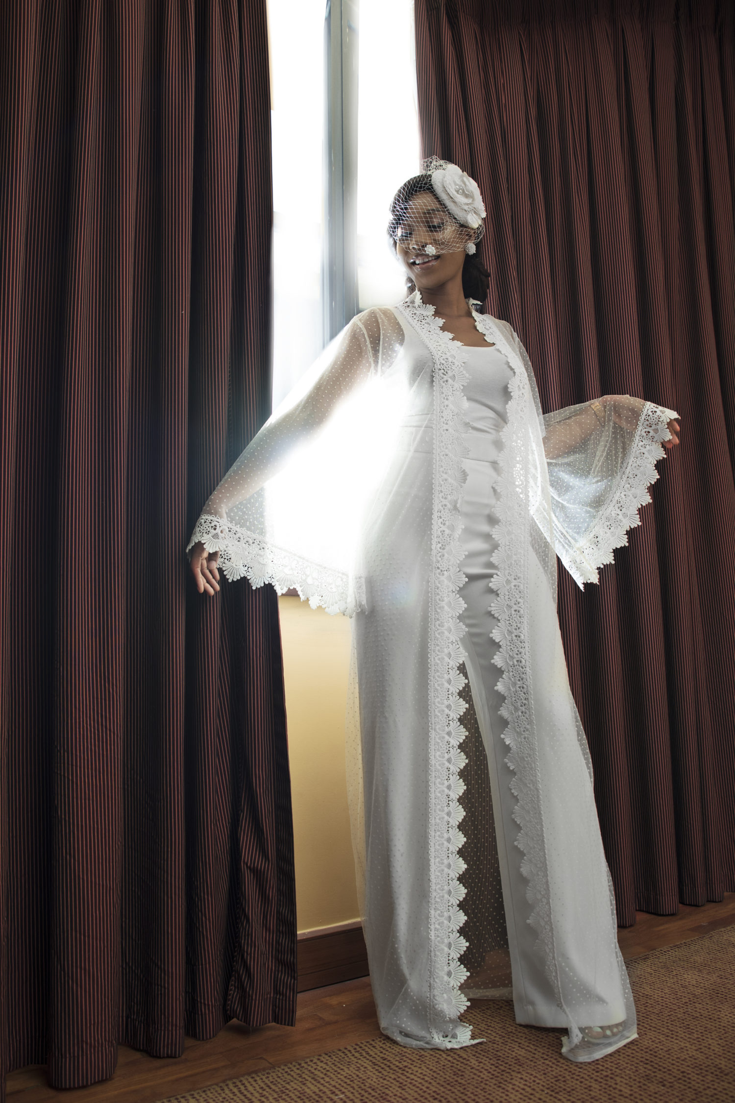 Abebi By Tan Makes a Strong Case for the Bridal Kimono Trend