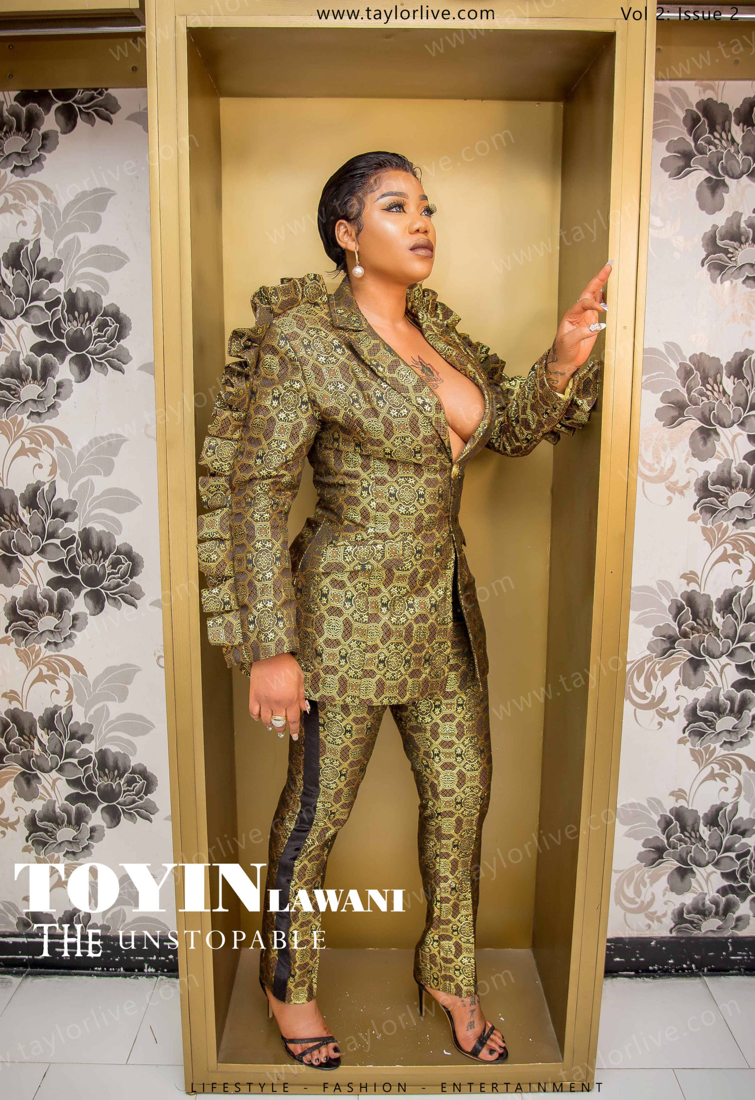 Toyin Lawani Is Fierce On The Cover Of Taylor Live Magazine's Latest Issue!