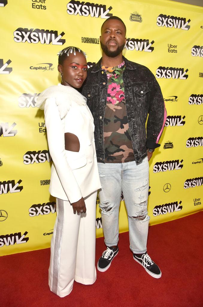 Lupita Nyong'o, Lupita Nyong'o with Winston Duke,