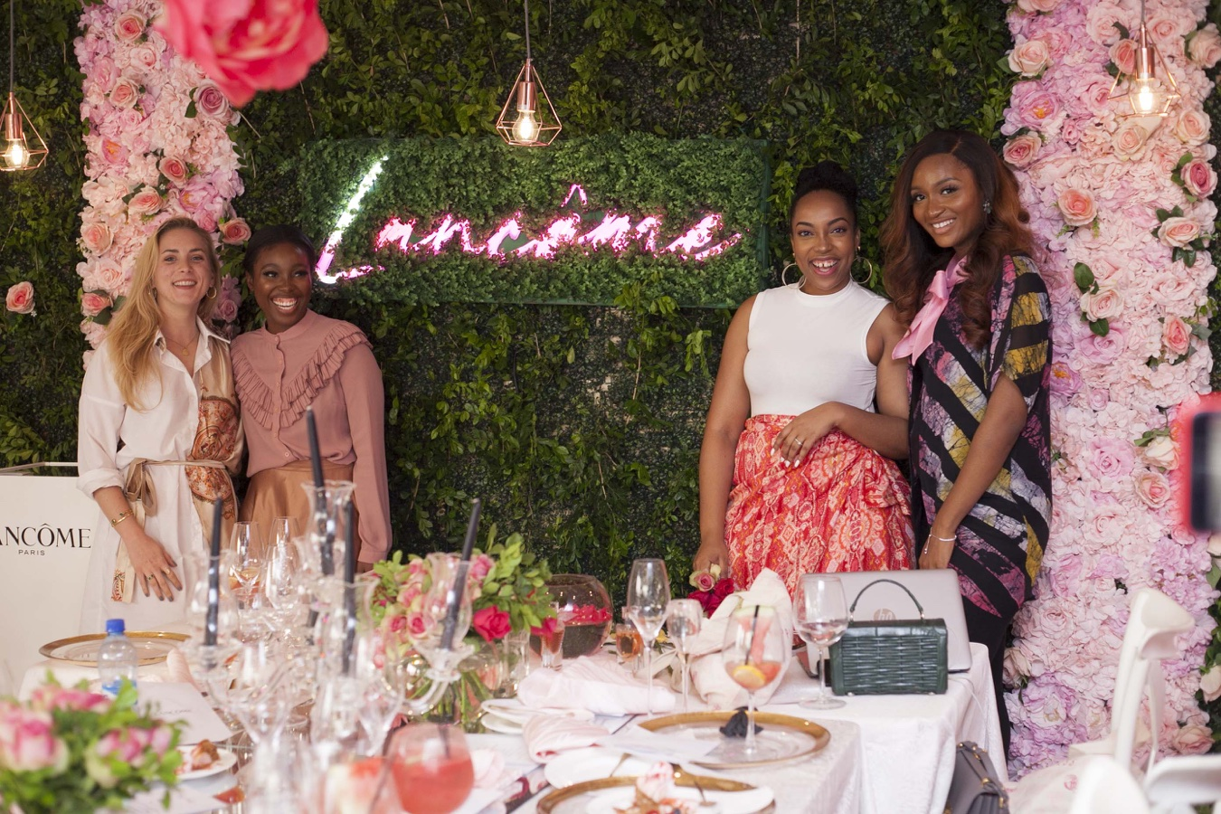 "You'll love all the Photos from Lancôme's Dreamy ""La Vie Est Belle"" Garden Party – Waje, Powede Awujo, Michelle Dede, Betty Irabor were there!"