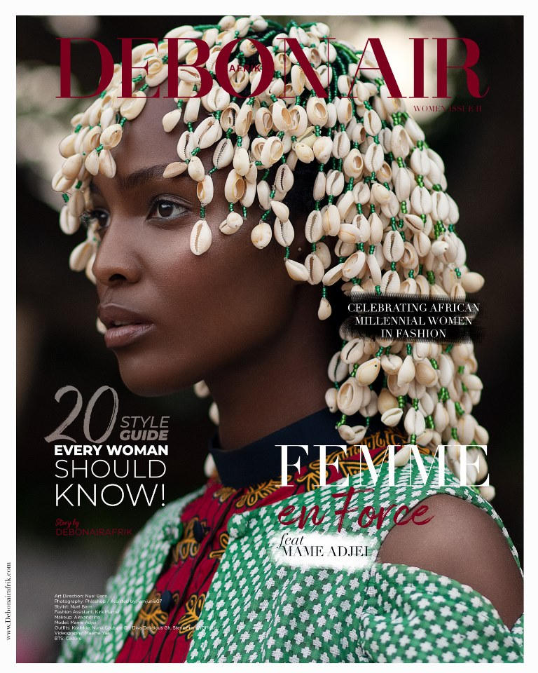 "Mame Adjei is ""Femme En Force"" For Debonair Afrik's Women Empowerment Issue"