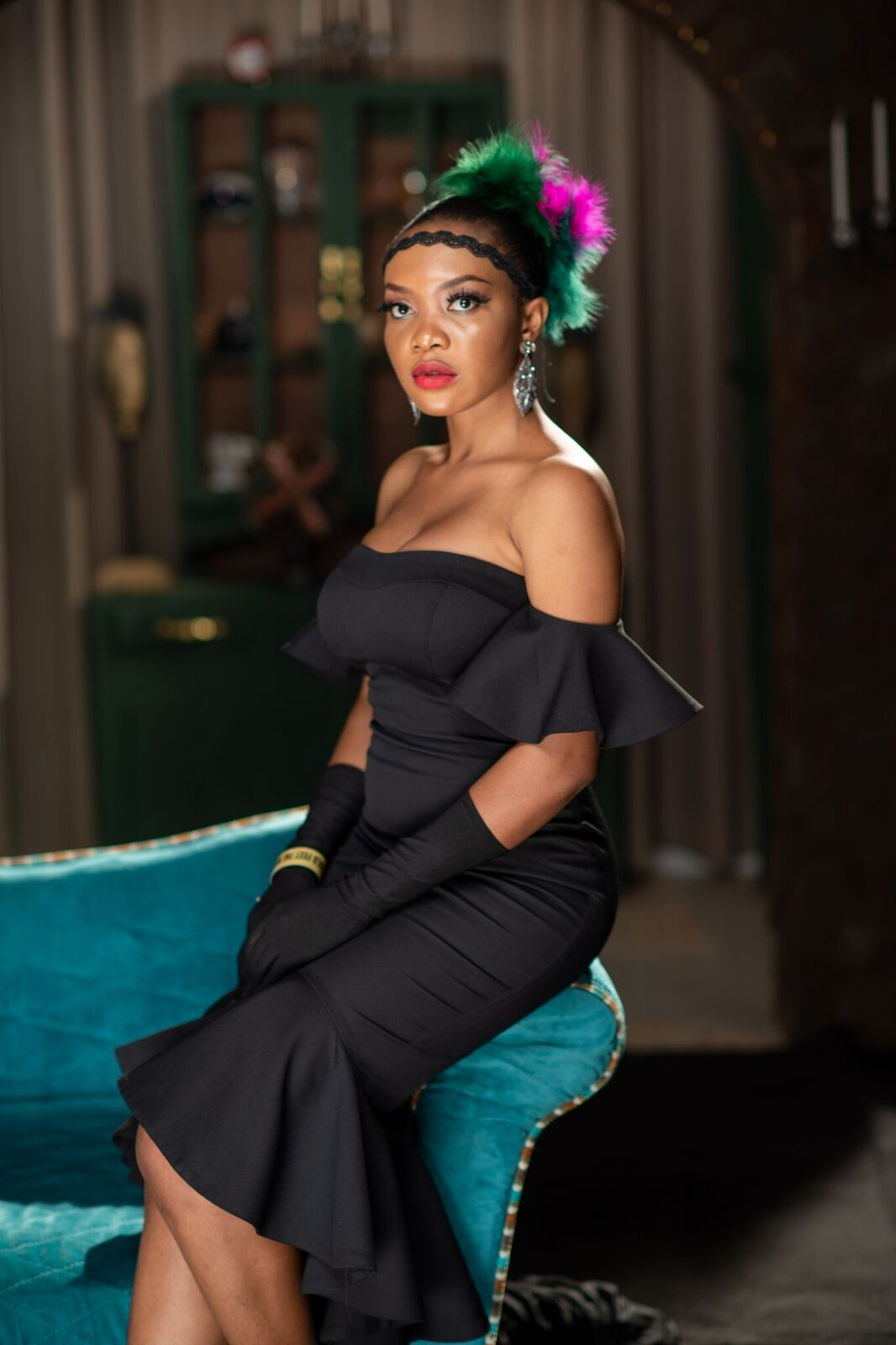 "Kelechi Amadi-Obi's Portrait Studio Captured Vintage Gatsby Glamour at the ""Cold Feet"" Movie Premiere"