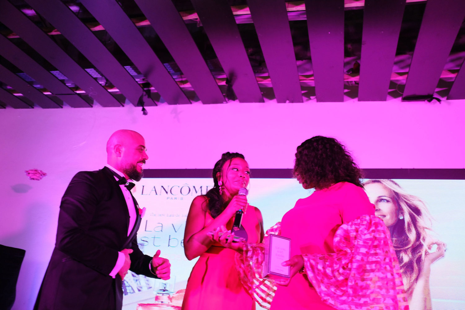From The Pink Carpet to The Photo Booth At Lancôme's New Fragrance Launch In Lagos, Here's Every Photo Worth Seeing