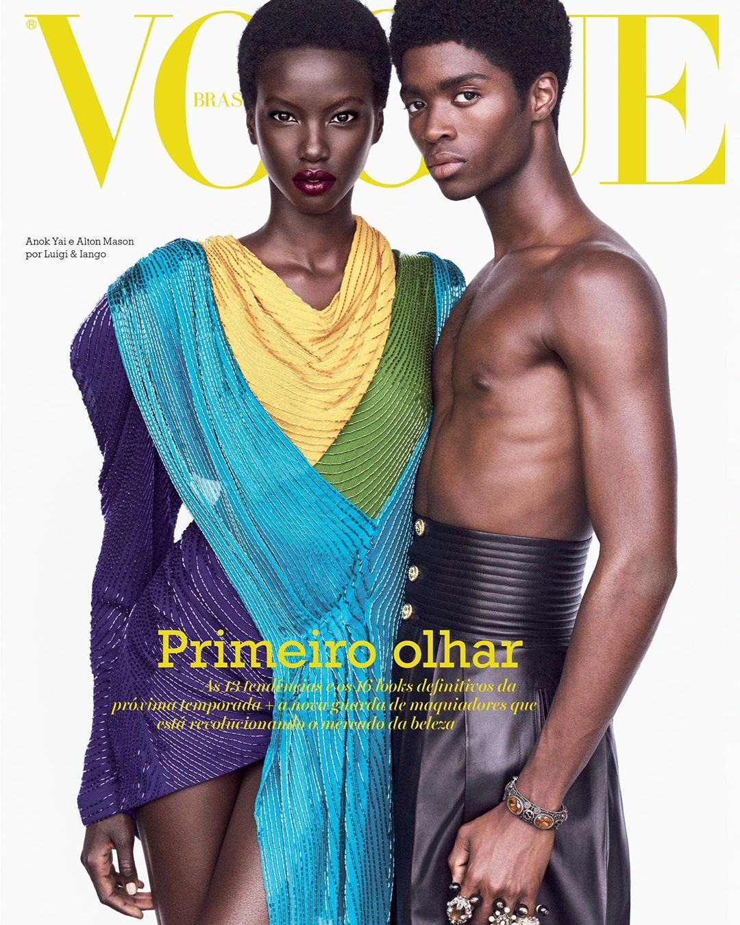 Anok Yai & Alton Mason shine on Vogue Brasil's August 2019 Issue!