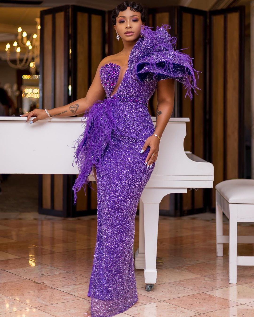 Boity Thulo's Orapeleng Modutle Look At Vodacom Durban July 2019 Was A Whole Mood