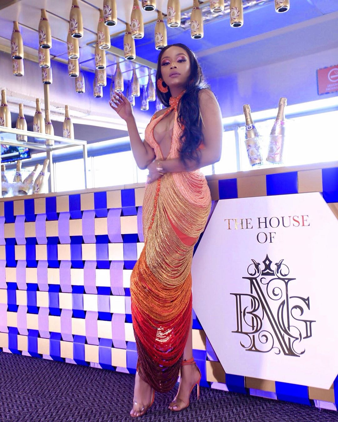 Celebrity Wedding July 2019: Bonang Matheba In This Coral Ombré Gert Johan-Coetzee