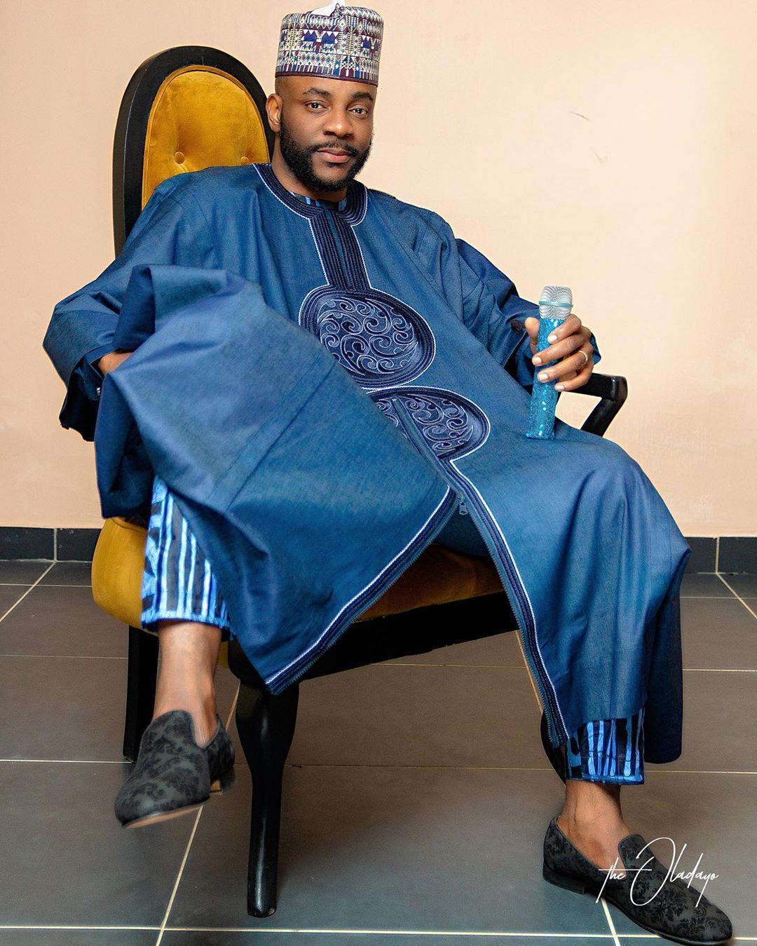 #BBNaija Host Ebuka Obi-Uchendu looked African & Cool at Last Night's Live Eviction Show