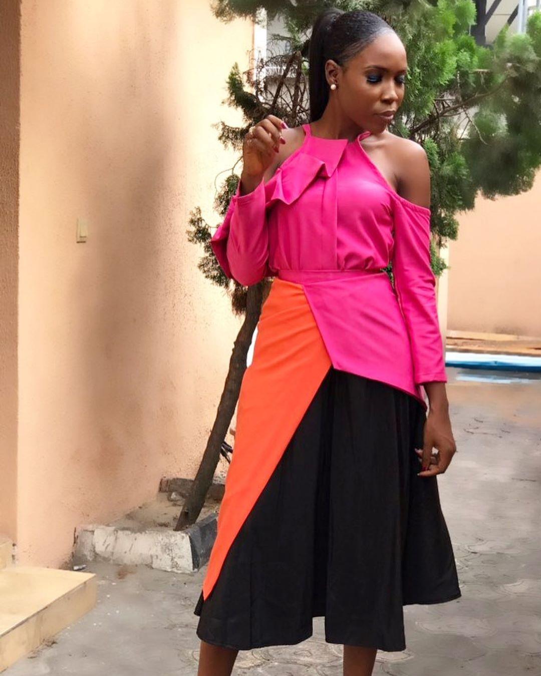 Lala Akindoju Embraces Colour Blocking Cool For LCA Film Fest 2019