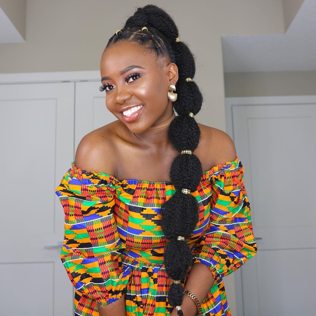 Adanna Madueke S Bubble Ponytail Hairstyle Is Giving Us Major Princess Jasmine Vibes Watch The Tutorial Bn Style