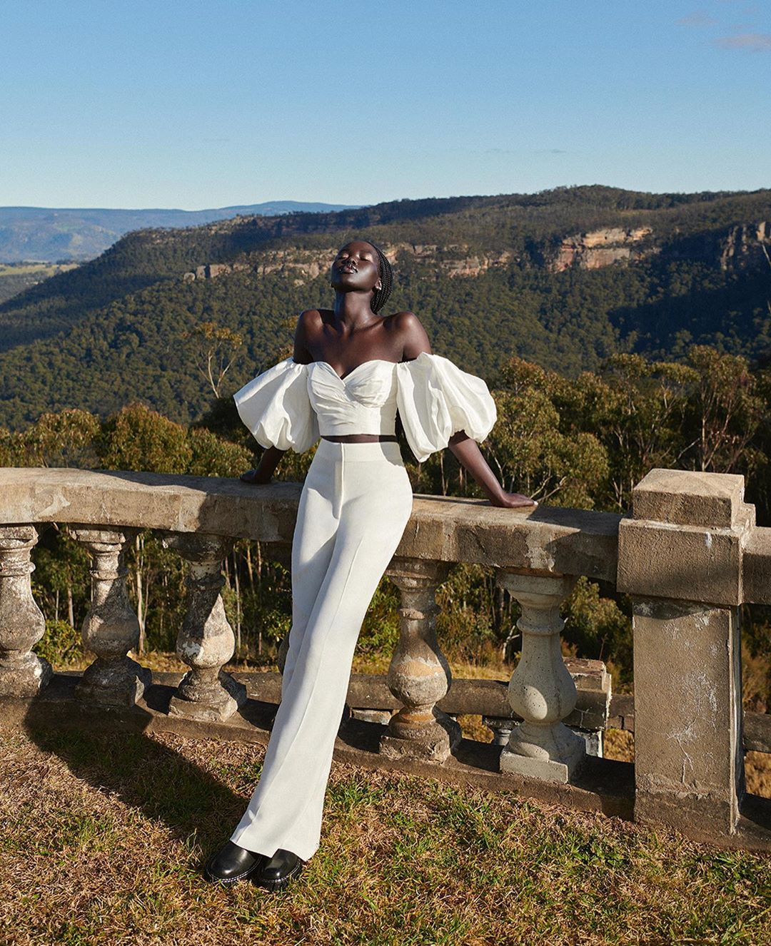 5Adut Akech Shines In David Jones Spring 2020 Campaign Proves She Looks Good In Everything