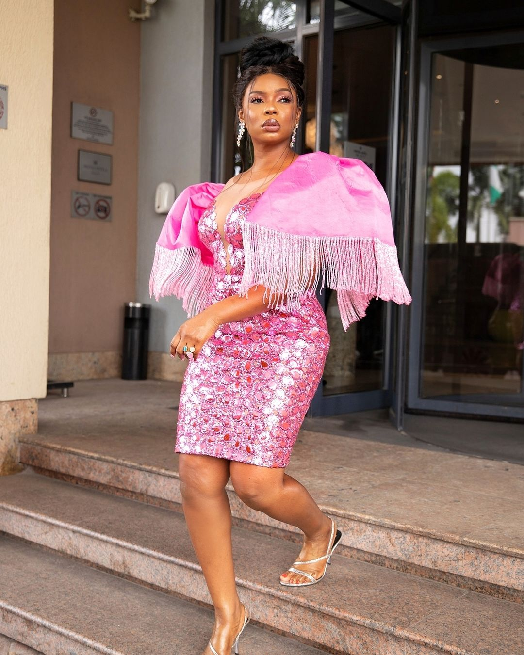 Yemi Alade Dazzled In Metallic Pink for The Voice Nigeria's Latest Episode  | BN Style